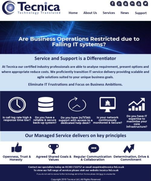 IT Systems Failing