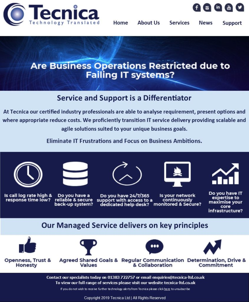 Are business operations restricted due to failing IT systems?