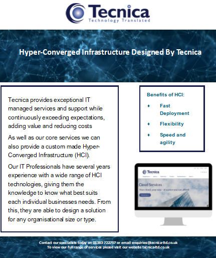 Tecnica and Hyper-Converged Infrastructure