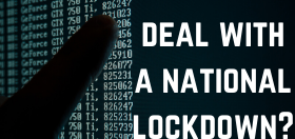How will your business deal with a national lockdown?